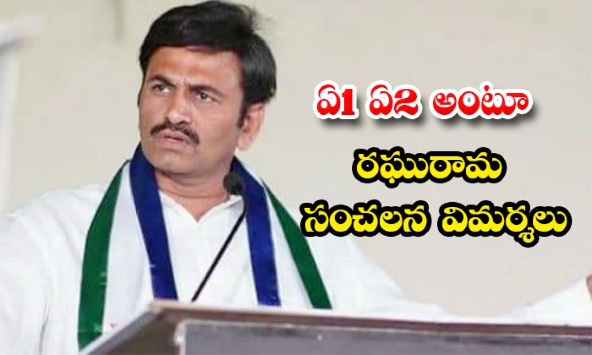 Mp Raguramakrishnam Raju Sensational Comments On Jagan Vijayasaireddy-ఏ 1 ఏ2 అంటూ రఘురామ సంచలన విమర్శలు-Political-Telugu Tollywood Photo Image-TeluguStop.com