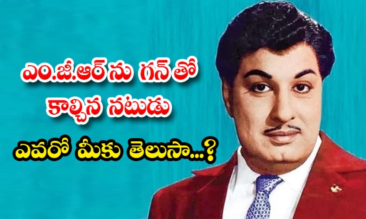 Who Shot The Actor Of Mgr-ఎం.జీ.ఆర్ ను గన్ తో కాల్చిన నటుడు ఎవరో మీకు తెలుసా…-Movie-Telugu Tollywood Photo Image-TeluguStop.com