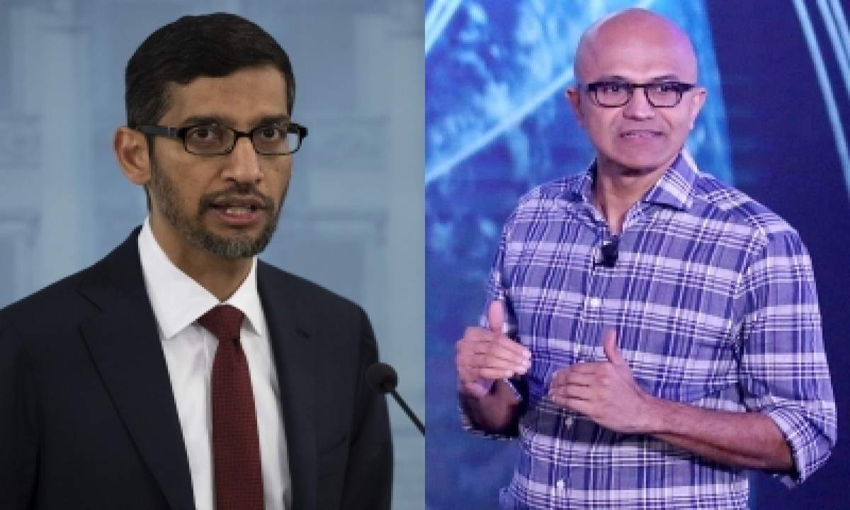 Nadella, Pichai Boost Indian Tech Prowess On World Map-TeluguStop.com