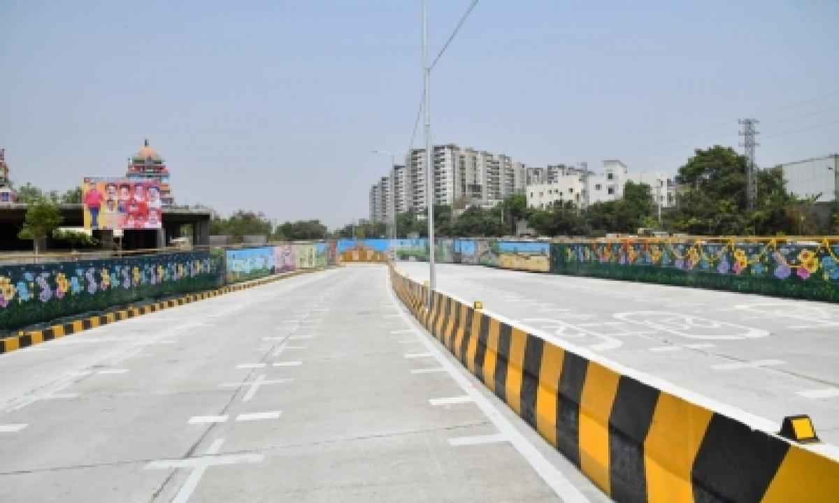 New Road Under Bridge Thrown Open In Hyderabad's It Corridor-TeluguStop.com