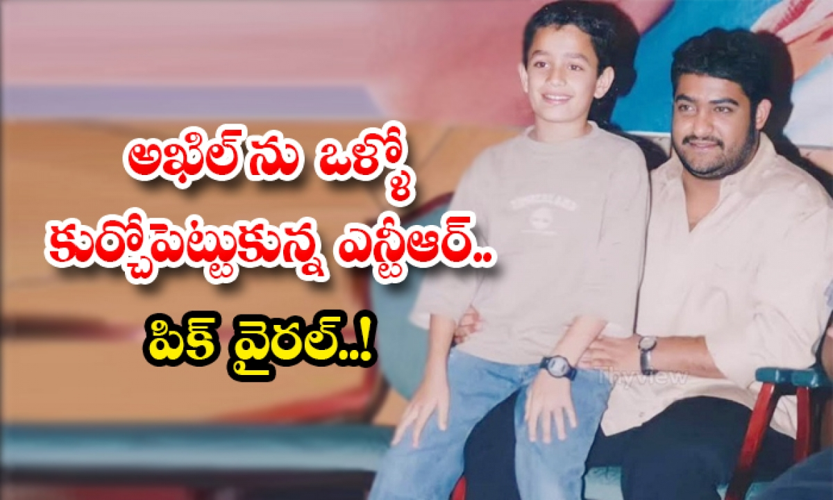 Ntr Akhil Photo Viral In Social Media-TeluguStop.com