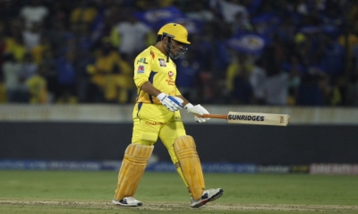 Off-colour Dhoni Falls For Second Ball Duck-TeluguStop.com