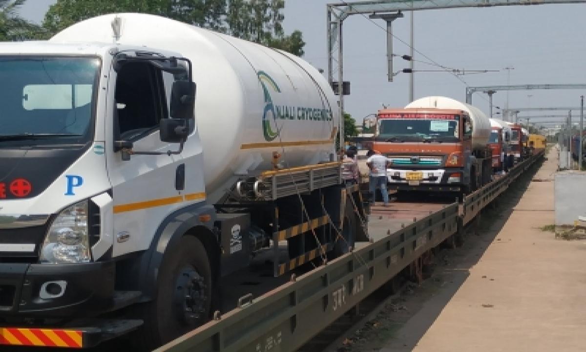 Oxygen Expresses Delivers 4,200 Mt Oxygen To 6 States So Far-TeluguStop.com
