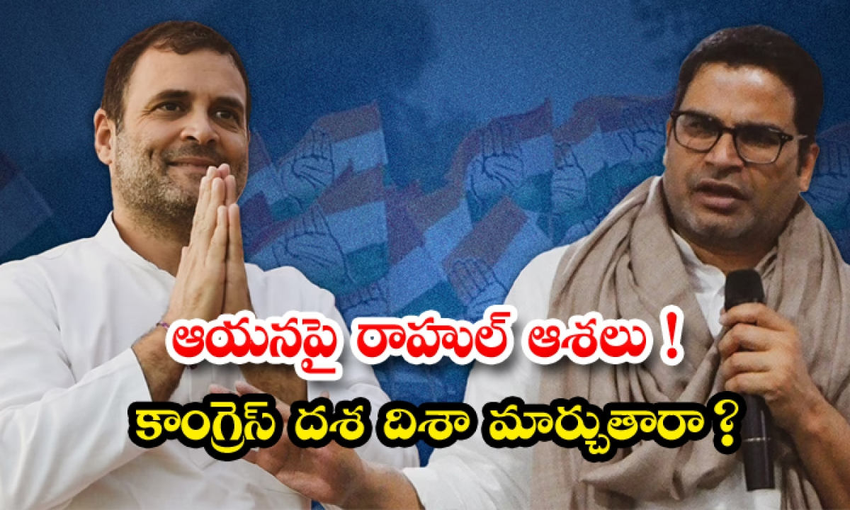 Rahul Gandhi Believes That Congress Will Come To Power With Prashant Kishores Political Tactics-ఆయనపైనే రాహుల్ ఆశలు కాంగ్రెస్ దశ దిశా మార్చుతారా -Political-Telugu Tollywood Photo Image-TeluguStop.com
