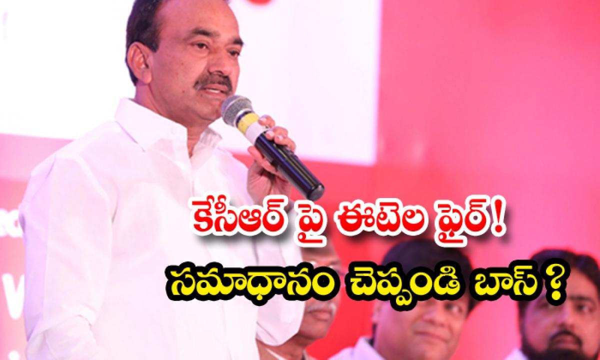 Rajendra Sensational Comments On Kcr-TeluguStop.com