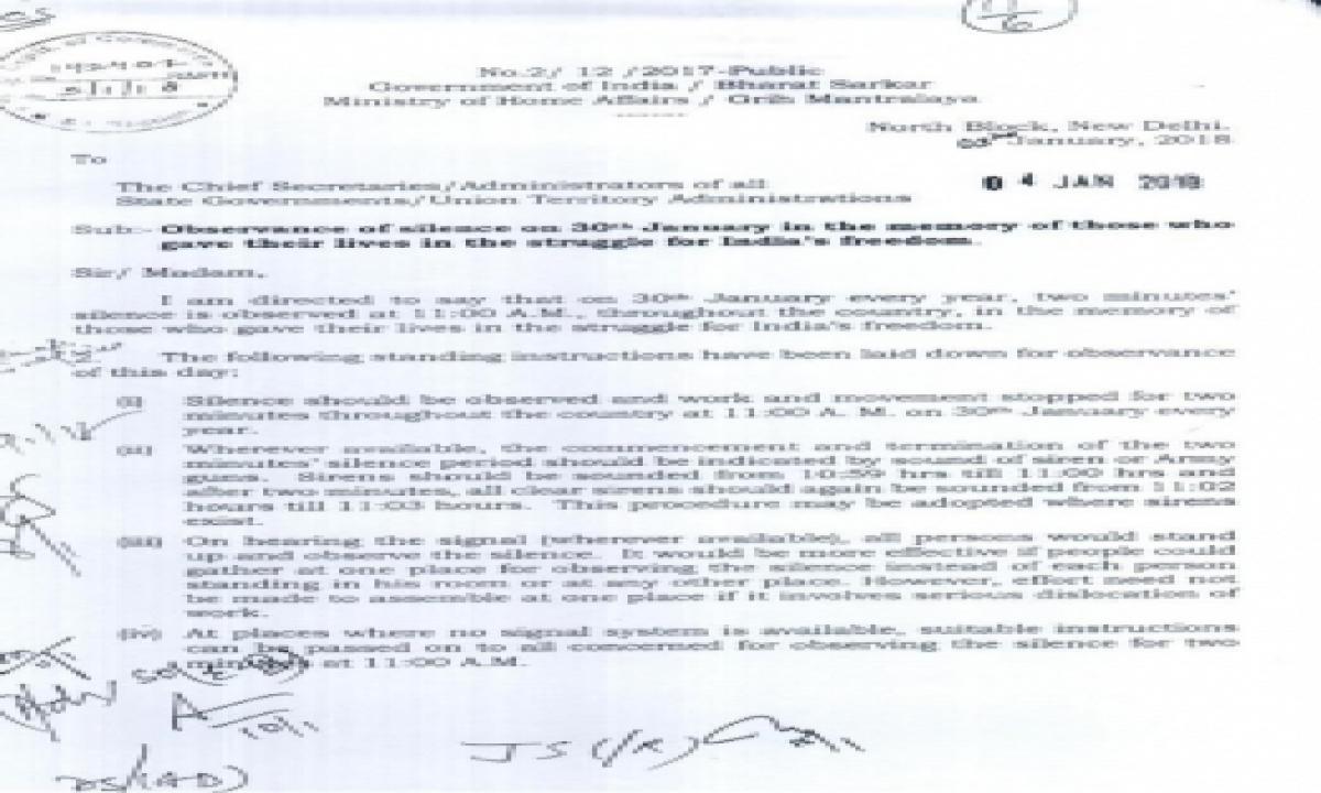 TeluguStop.com - Restore Siren To Mark Bapu's Assassination: Gandhi Kin To Prez
