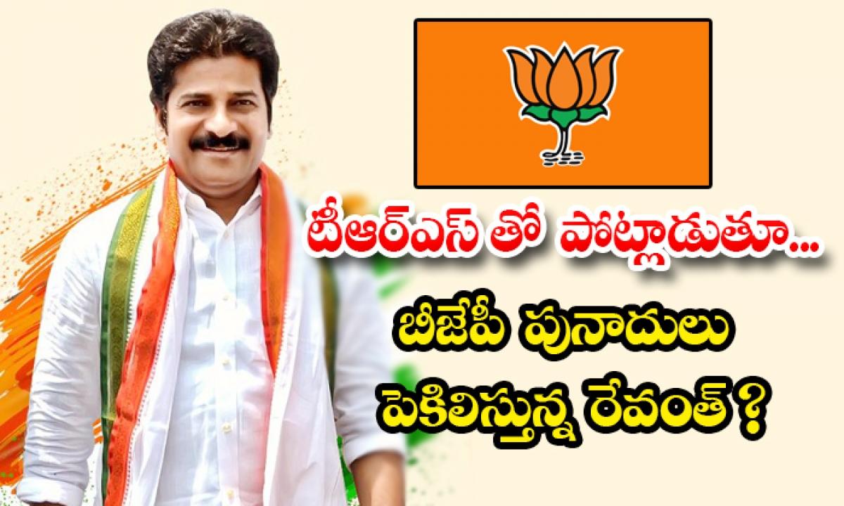 Rewanth Reddy Has Completely Targeted The Bjp-టీఆర్ఎస్ తో పోట్లాడుతూ… బీజేపీ పునాదులు పెకిలిస్తున్న రేవంత్ -Political-Telugu Tollywood Photo Image-TeluguStop.com