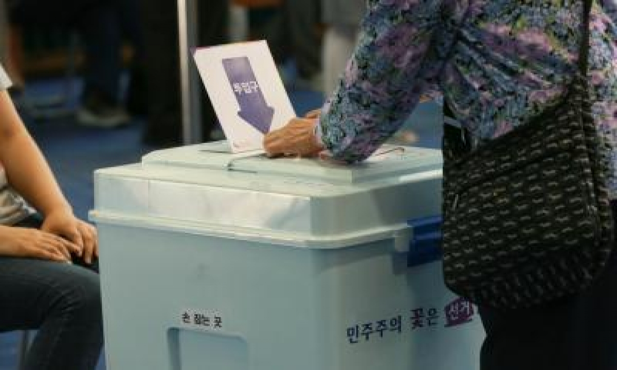 S.korea's Ruling Party Suffers Defeat In Mayoral Bypolls-TeluguStop.com