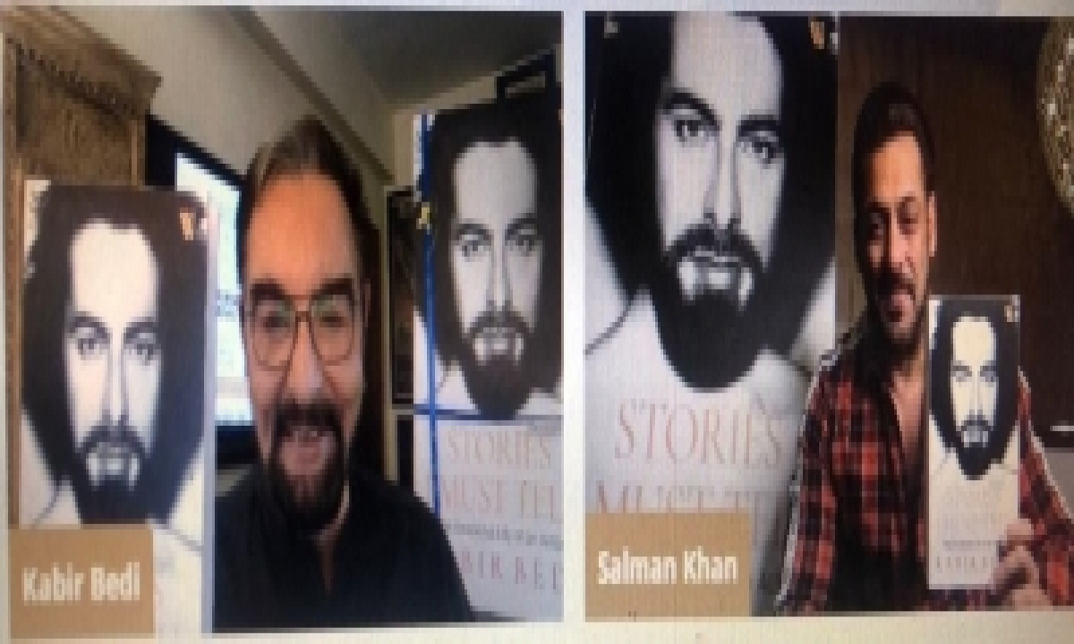 Salman Khan Unveils Cover Of Kabir Bedi's Memoir-TeluguStop.com