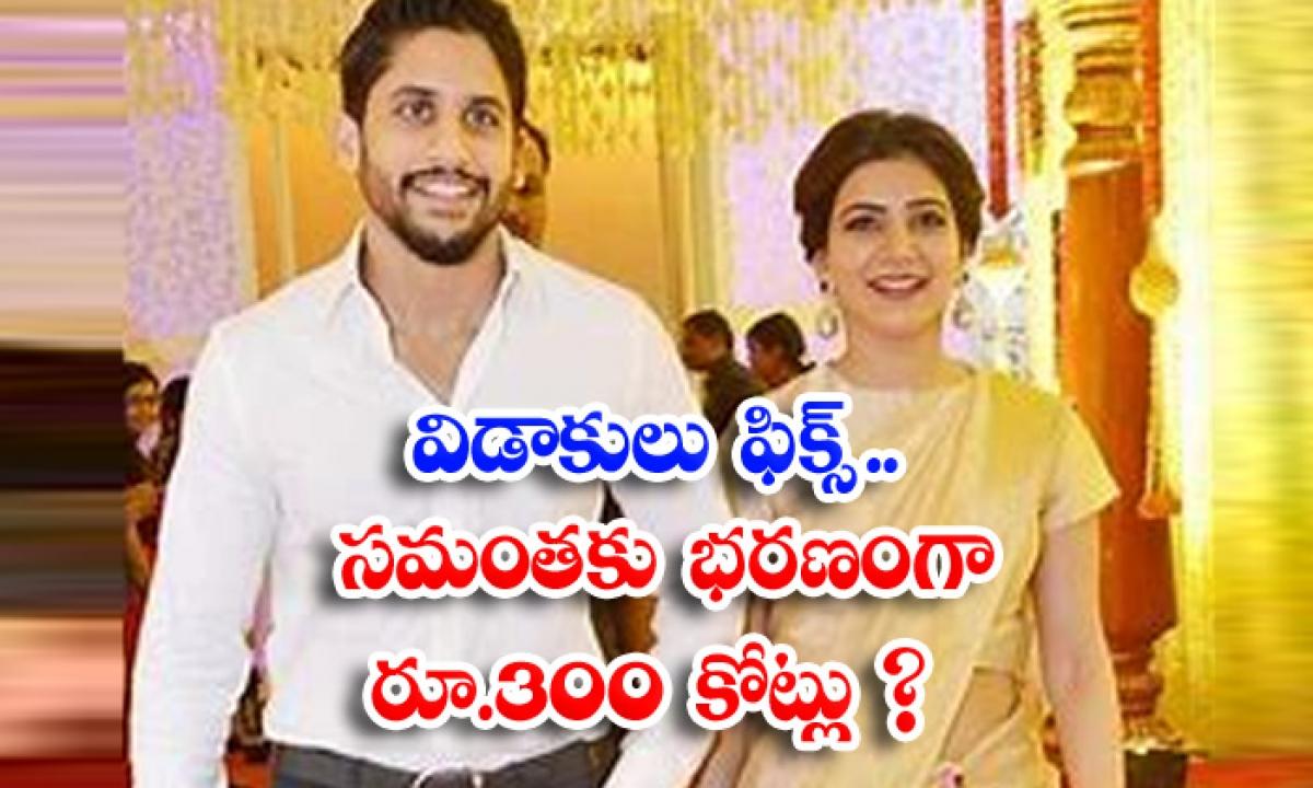 Samantha Naga Chaitanya Divorce Confirmed Samantha To Get Rs 300 Crore As Alimony Arrears-విడాకులు ఫిక్స్.. సమంతకు భరణంగా రూ.300 కోట్లు-Latest News - Telugu-Telugu Tollywood Photo Image-TeluguStop.com