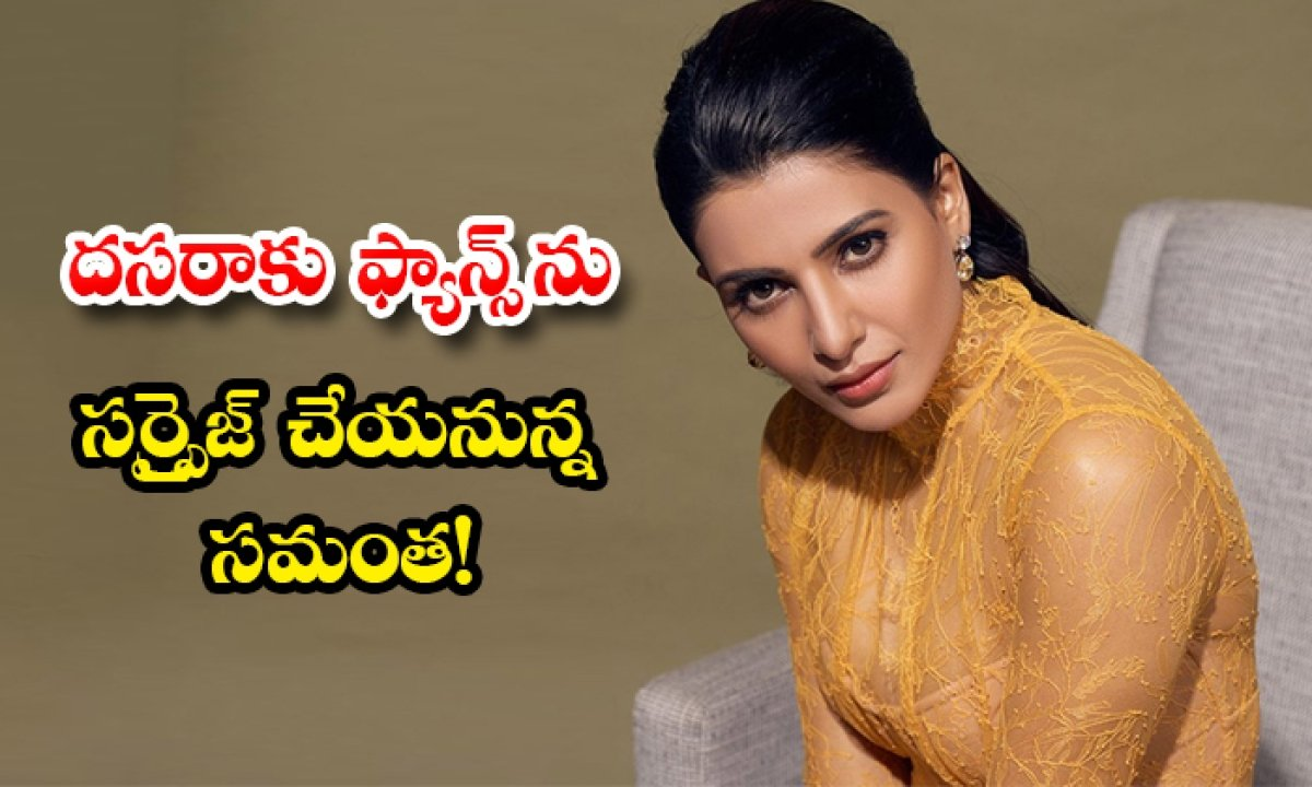 Samantha New Projects Announced On Dussehra-దసరాకు ఫ్యాన్స్ ను సర్ప్రైజ్ చేయనున్న సమంత-Latest News - Telugu-Telugu Tollywood Photo Image-TeluguStop.com