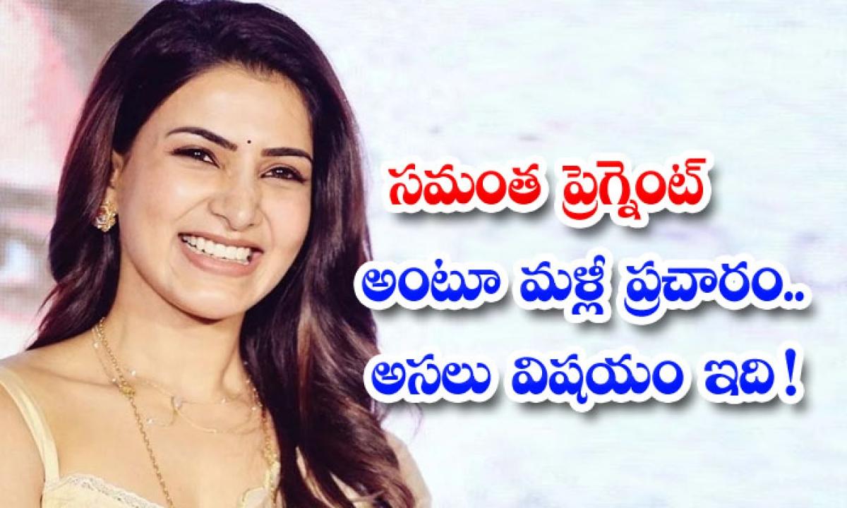 One More Rumour On Samantha And Chaitu Relation-సమంత ప్రెగ్నెంట్ అంటూ మళ్లీ ప్రచారం.. అసలు విషయం ఇది-Latest News - Telugu-Telugu Tollywood Photo Image-TeluguStop.com