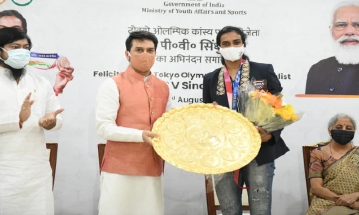 Sindhu Among India's Greatest Olympians: Sports Minister Thakur-General-English-Telugu Tollywood Photo Image-TeluguStop.com