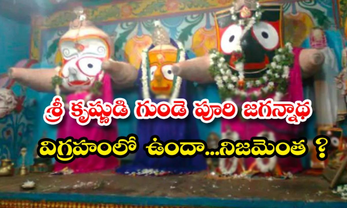 Is The Heart Of Lord Krishna In The Idol Of Puri Jagannath-TeluguStop.com