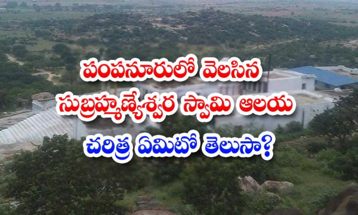 What Is The History Of Subrahmanyeshwara Swamy Temple-పంపనూరులో వెలసిన సుబ్రహ్మణ్యేశ్వర స్వామి ఆలయ చరిత్ర ఏమిటో తెలుసా-Latest News - Telugu-Telugu Tollywood Photo Image-TeluguStop.com