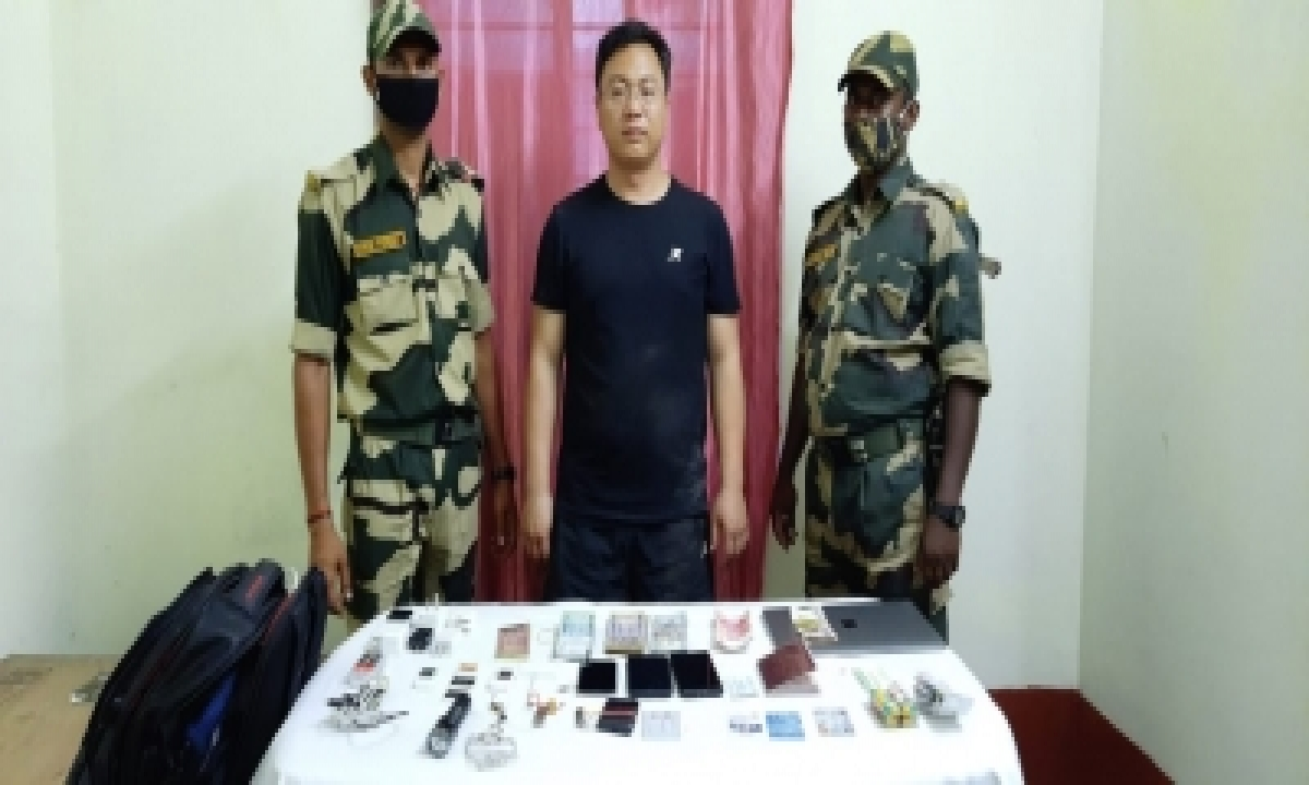 Suspected Chinese Spy Held While Illegally Entering India From B'desh (lead)-TeluguStop.com