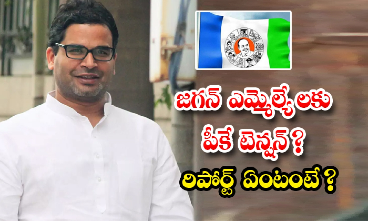 Ysrcp Mlas Tention On Prasanth Kishore Team Sarve Report-జగన్ ఎమ్మెల్యే లకు పీకే టెన్షన్ రిపోర్ట్ ఏంటంటే -Latest News - Telugu-Telugu Tollywood Photo Image-TeluguStop.com