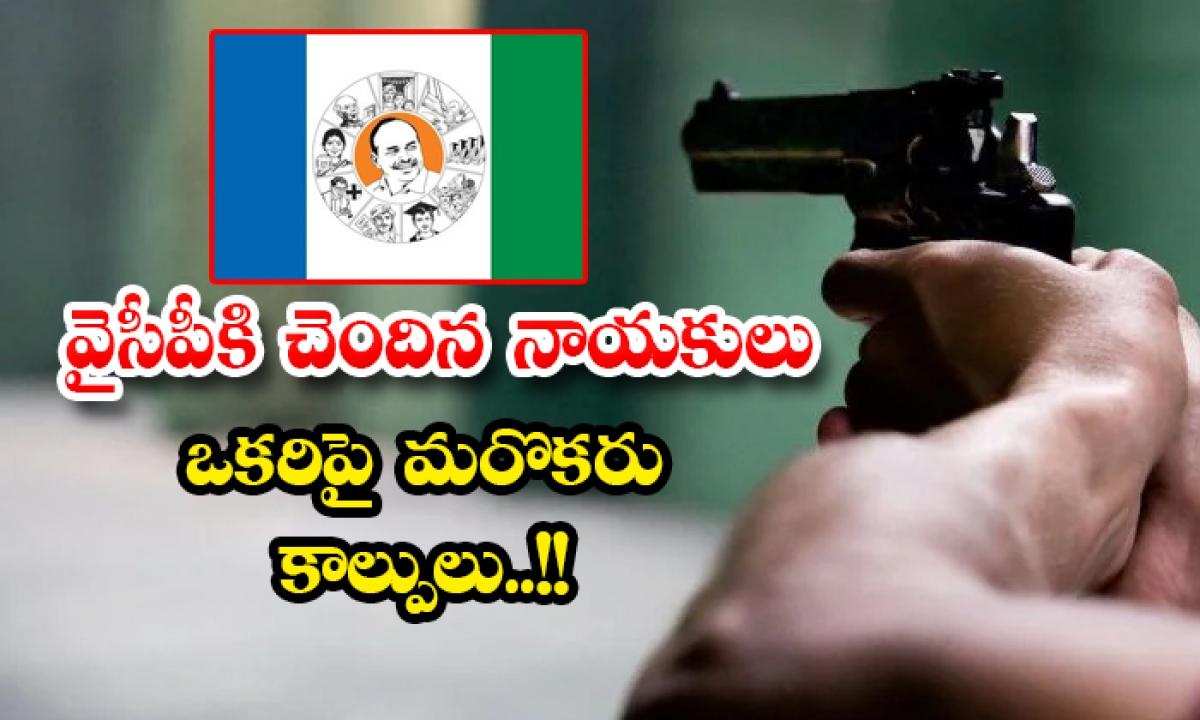 The Ycp Leaders Open Fire On Each Other-వైసీపీకి చెందిన నాయకులు ఒకరిపై మరొకరు కాల్పులు..-Political-Telugu Tollywood Photo Image-TeluguStop.com