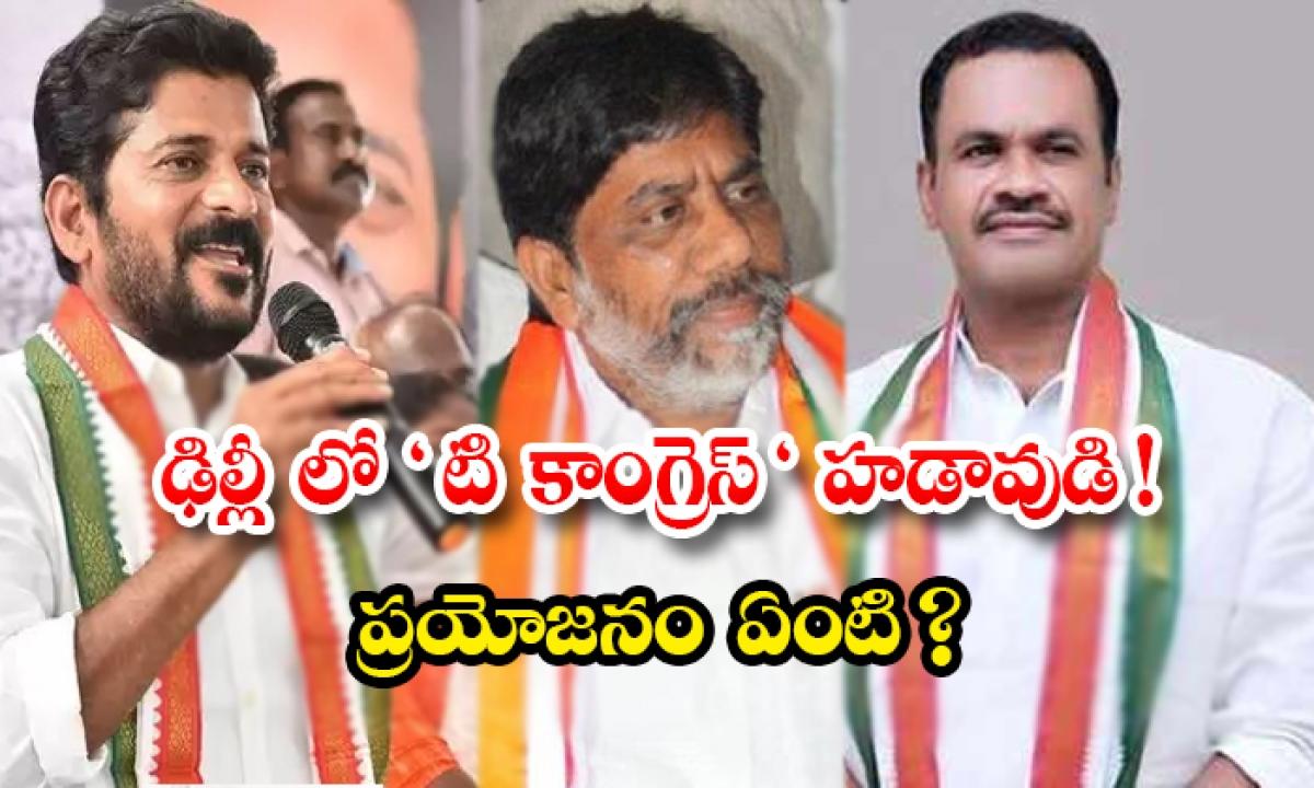 The Telangana Congress Is Going To Elect A New President-ఢిల్లీ లో టి కాంగ్రెస్ హడావుడి ప్రయోజనం ఏంటి -Political-Telugu Tollywood Photo Image-TeluguStop.com