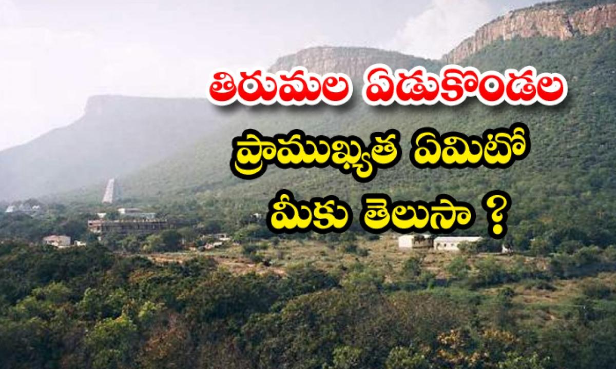 Tirumala Srivenkateshwara Seven Hills Story-తిరుమల ఏడుకొండల ప్రాముఖ్యత ఏమిటో మీకు తెలుసా-Latest News - Telugu-Telugu Tollywood Photo Image-TeluguStop.com