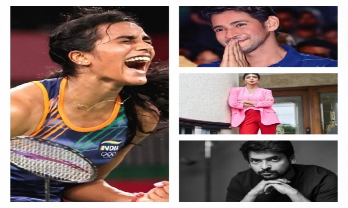 Tollywood Celebrities Hail 'tigress' Pv Sindhu-TeluguStop.com