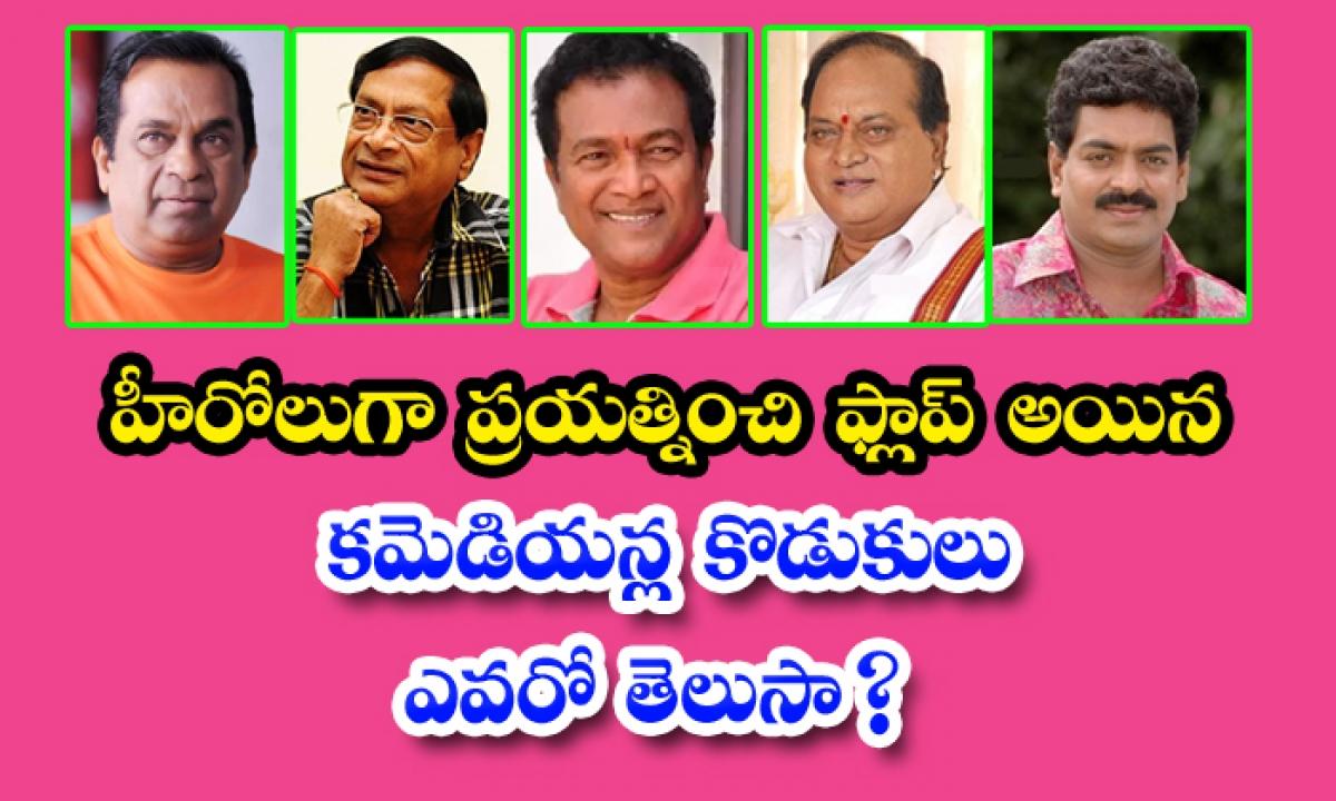 Tollywood Comedians Failure Sons-హీరోలుగా ప్రయత్నించి ప్లాఫ్ అయిన కమెడియన్ల కొడుకులు ఎవరో తెలుసా-Latest News - Telugu-Telugu Tollywood Photo Image-TeluguStop.com
