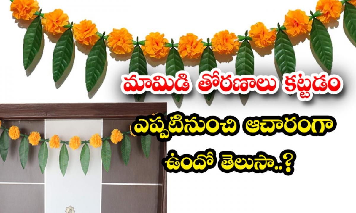 When Mango Arches Have Become A Tradition-మామిడి తోరణాలు కట్టడం ఎప్పటినుంచి ఆచారంగా ఉందో తెలుసా-Latest News - Telugu-Telugu Tollywood Photo Image-TeluguStop.com