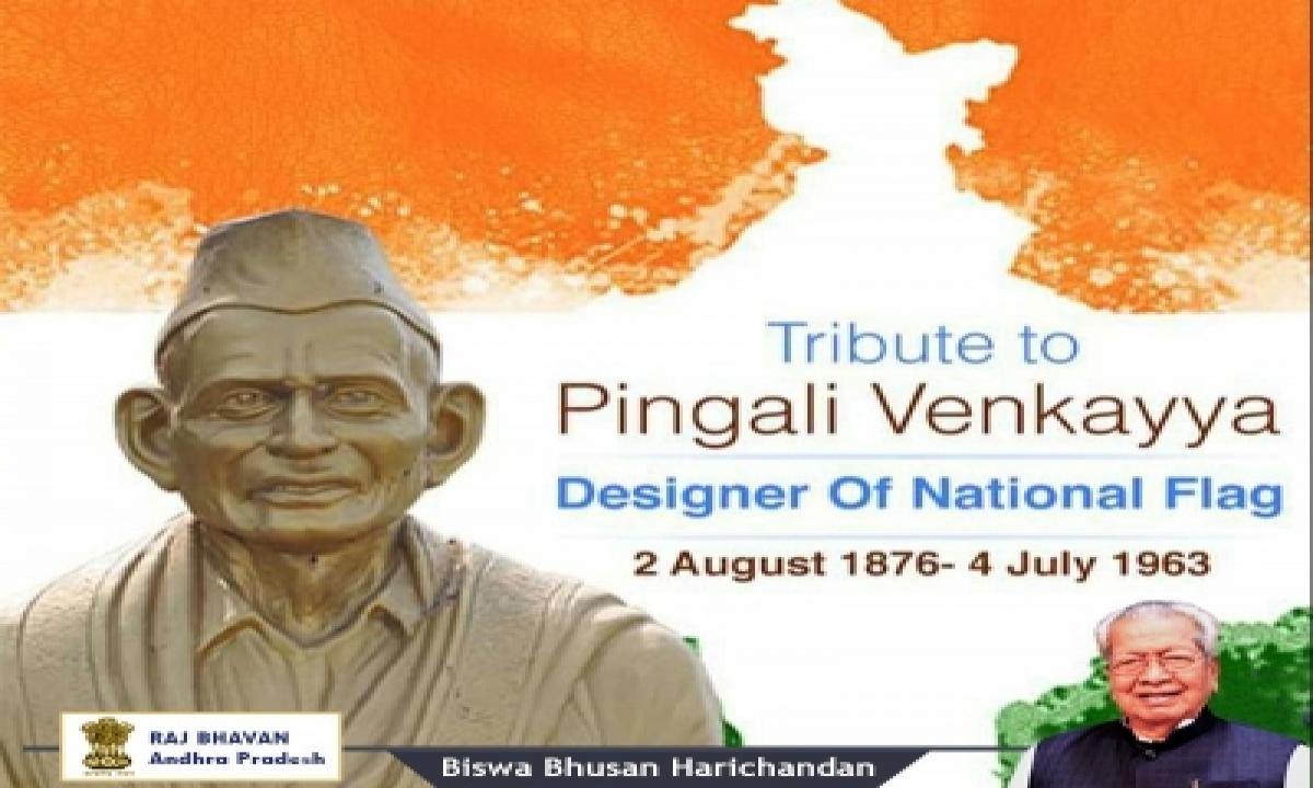 Tributes Pour In For Pingali Venkayya On Birth Anniversary-TeluguStop.com
