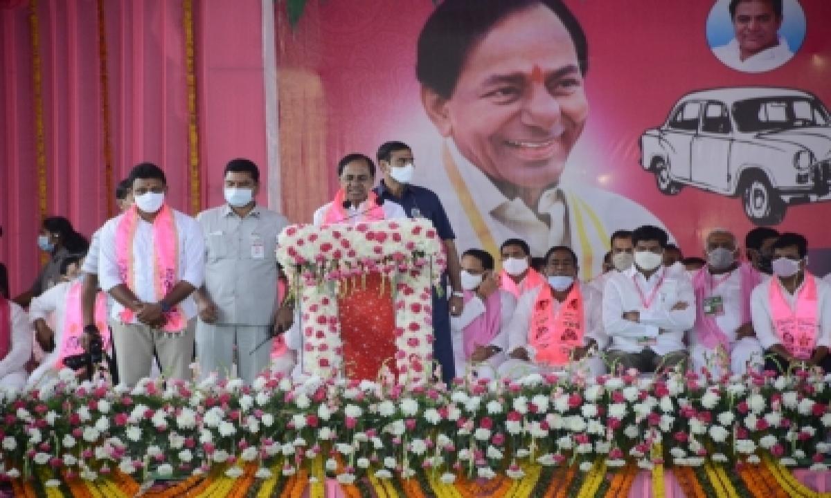 Trs Takes Early Lead In Nagarjuna Sagar-TeluguStop.com