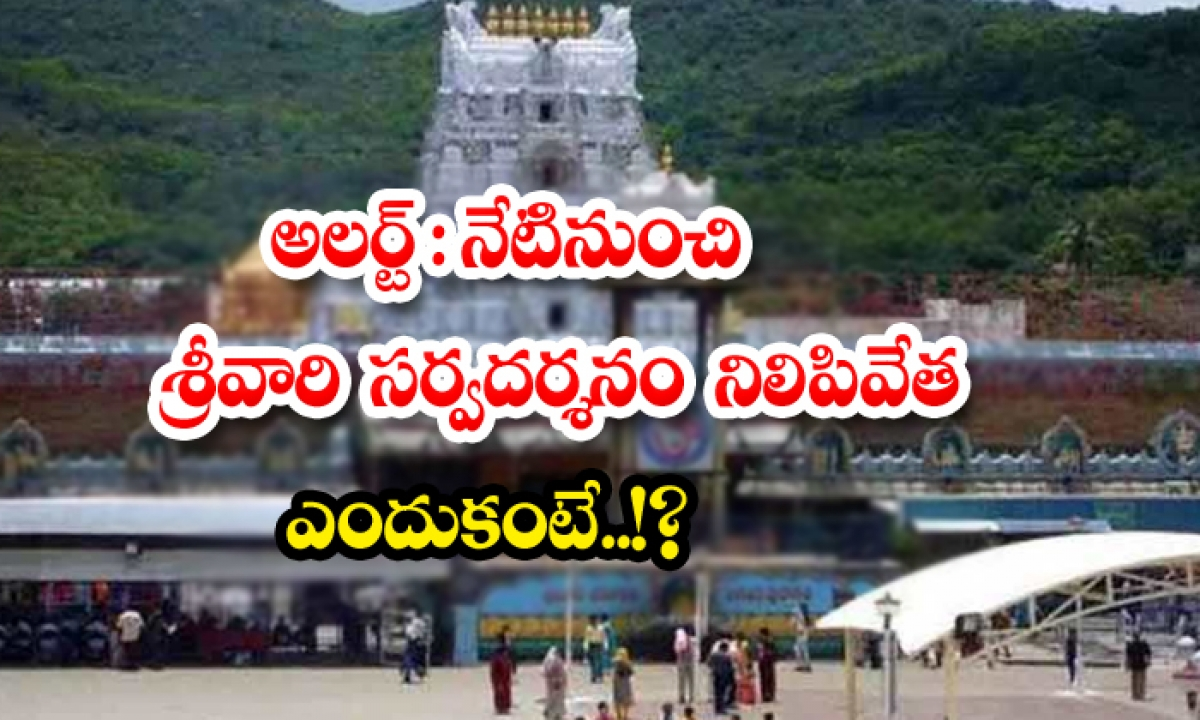 Alert Srivari Sarvadarshana Will Be Stopped From Today Because-TeluguStop.com