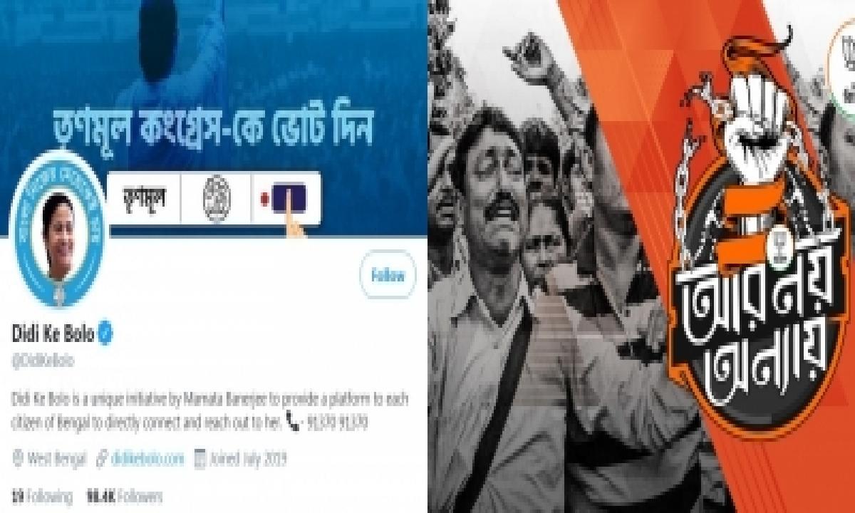 Vernacular Campaigns Heat Up Social Media Wars During Bengal Polls-TeluguStop.com
