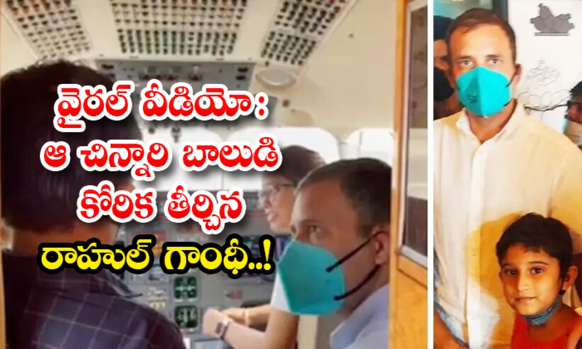 Viral Video Rahul Gandhi Fulfilled The Wish Of That Little Boy Advaith-TeluguStop.com