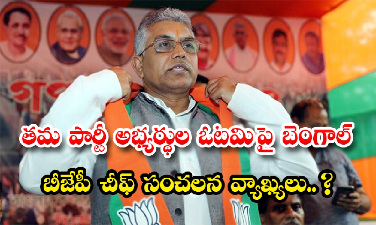 West Bengal Bjp Chief Dilip Ghosh Sensational Remarks On The Defeat Of Their Party Candidates-TeluguStop.com