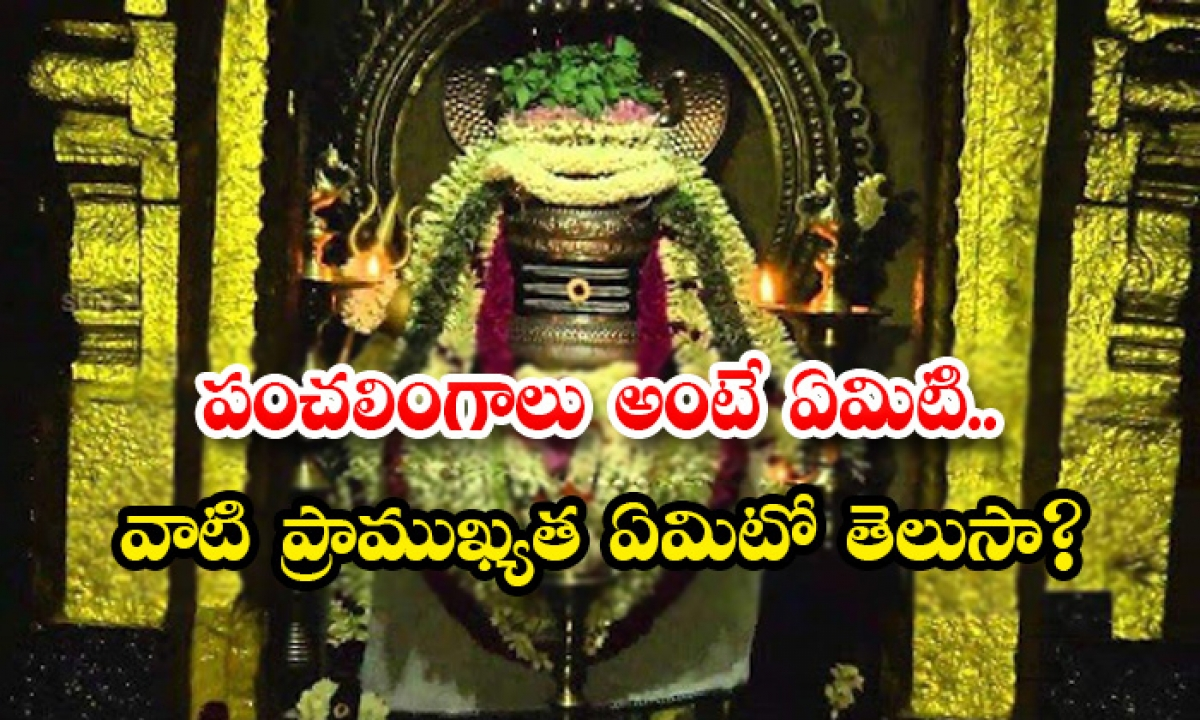 What Is The Significance Of The Five Panchabutha Lingalu-పంచలింగాలు అంటే ఏమిటి.. వాటి ప్రాముఖ్యత ఏమిటో తెలుసా-Latest News - Telugu-Telugu Tollywood Photo Image-TeluguStop.com