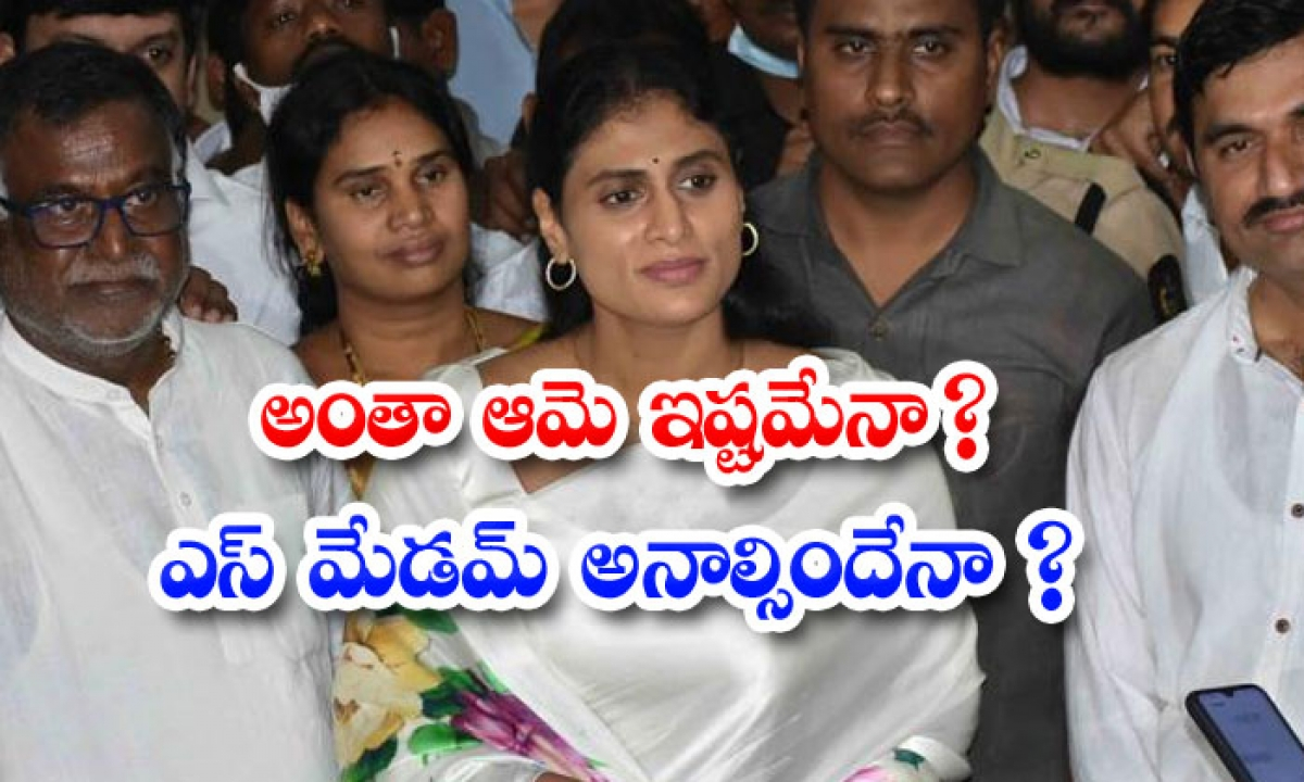 Own Party Leaders So Many Comments On Sharmila-అంతా ఆమె ఇష్టమేనా ఎస్ మేడమ్ అనల్సిందేనా -Political-Telugu Tollywood Photo Image-TeluguStop.com