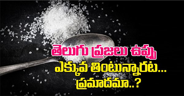 People In Telugu States Are Eating Unhealthy Amount Of Salt-People In Telugu States Are Eating Unhealthy Amount Of Salt-Telugu Health - తెలుగు హెల్త్ టిప్స్ ,చిట్కాలు-Telugu Tollywood Photo Image-TeluguStop.com