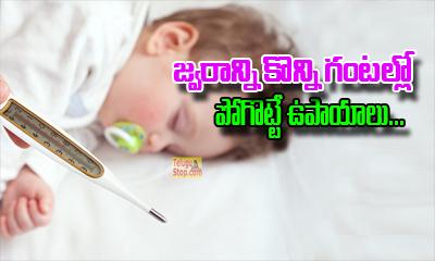 జ్వరాన్ని కొన్నిగంటల్లో పోగొట్టే ఉపాయాలు-General-English-Telugu Tollywood Photo Image-TeluguStop.com