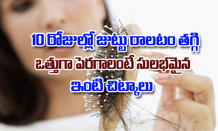 How To Treat Hair Fall At Home-How To Treat Hair Fall At Home-Telugu Health - తెలుగు హెల్త్ టిప్స్ ,చిట్కాలు-Telugu Tollywood Photo Image-TeluguStop.com