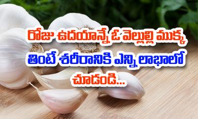 Healthy Benefits Of Eating Garlic Every Morning-TeluguStop.com