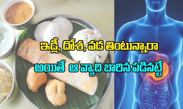 Idli Dosa Vada Effects Of Morning Breakfast-టిఫిన్ గా ఇడ్లీ, దోశ, వడ తింటున్నారా. అయితే ఆ వ్యాధి భారిన పడక తప్పదు.-Telugu Health-Telugu Tollywood Photo Image-TeluguStop.com