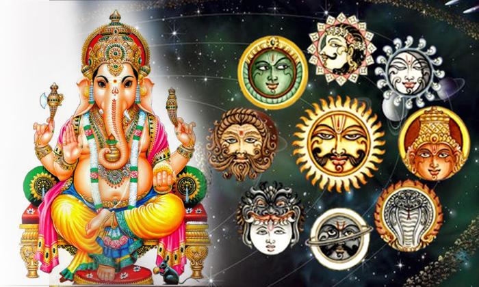 Navagraha Doshalu With Lord Ganesha-నవగ్రహ దోషాలు ఉన్నవారు గణపతిని ఇలా పూజిస్తే ఆ దోషాలు అన్ని తొలగిపోతాయి-Telugu Bhakthi-Telugu Tollywood Photo Image-TeluguStop.com