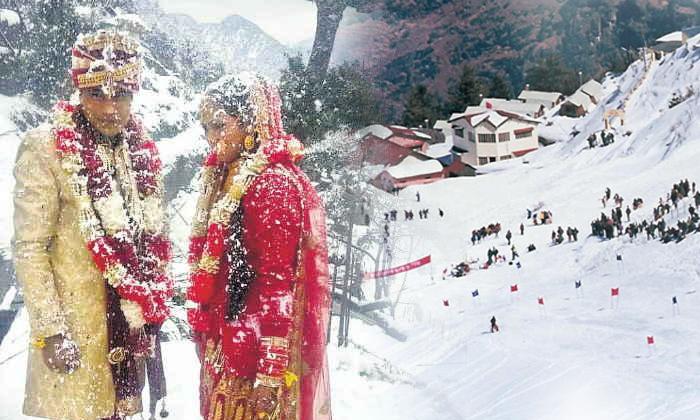 Marriage Baarat In Snowfall In Chamba Himachal-TeluguStop.com