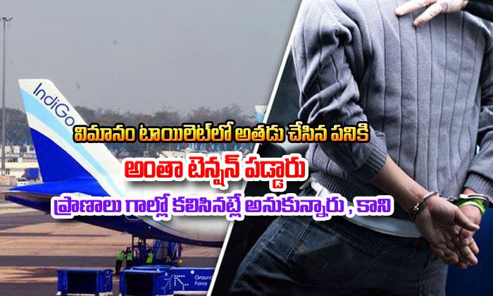 The Passenger Smoking In The Flight Makes Emergency In The Flight-విమానం టాయిలెట్లో అతడు చేసిన పనికి అంతా టెన్షన్ పడ్డారు.. ప్రాణాలు గాల్లో కలిసినట్లే అనుకున్నారు, కాని..-General-Telugu-Telugu Tollywood Photo Image-TeluguStop.com