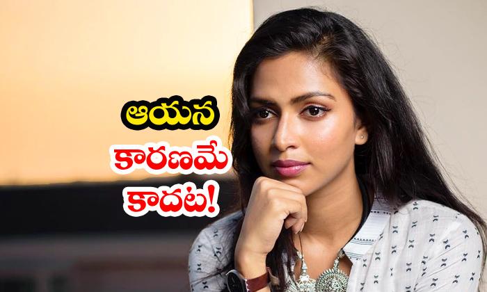 Amala Paul Rejects Rumours On Dhanush For Divorce-TeluguStop.com