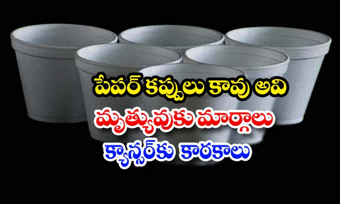 Tea In Thermocol Cups Is Injurious To Health-బాబోయ్ : పేపర్ కప్పులు కావు అవి మృత్యువుకు మార్గాలు, క్యాన్సర్కు కారకాలు-Breaking/Featured News Slide-Telugu Tollywood Photo Image-TeluguStop.com