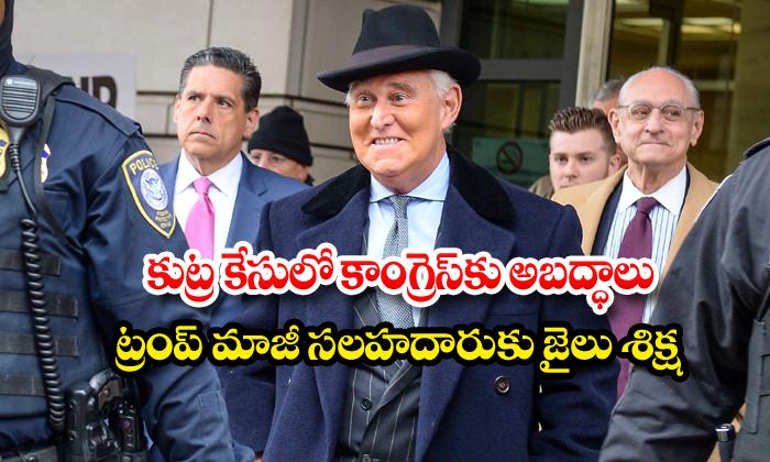 Us President Donald Trumps Adviser Roger Stone Jailed-TeluguStop.com