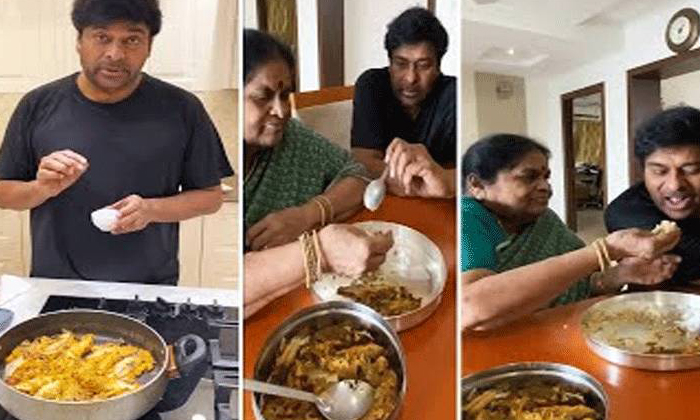 Mega Star Chiranjeevi Small Fish Fry For Mother-TeluguStop.com