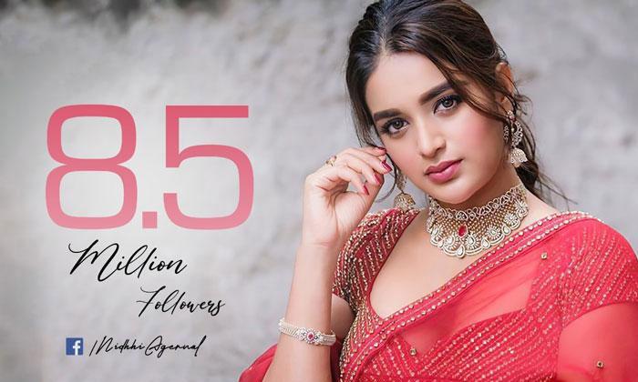 Nidhi Agarwal Crossed 8 5 Million Followers In Facebook-TeluguStop.com