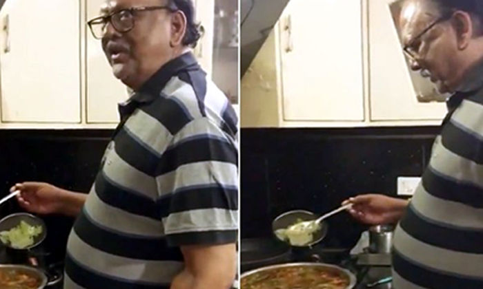 Senior Actor Krishnam Raju Makes Fish Curry Family-TeluguStop.com