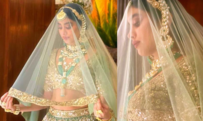 Pic Talk: Janhvi's Bridal Look For Manish Malhotra's New Collection -  Telugu Dhadak Janhvi Kapoor Lehenga Malhotra Janhvi\\'s F-TeluguStop